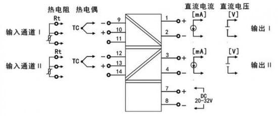 机械工业 虹润温度变送器,隔离器      将现场的热电阻或热电偶信号